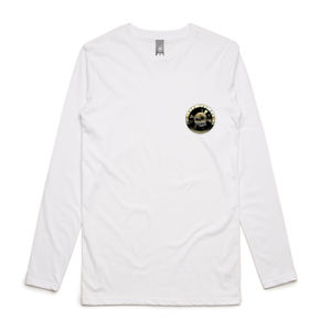 DFP Raglan Double-Gold - Mens Ink Longsleeve Tee Thumbnail