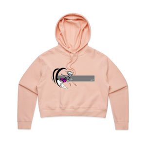 Pink BARREL BONEZY - Womens Crop Hood Thumbnail